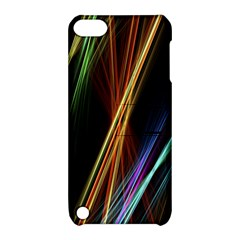 Lines Rays Background Light Apple Ipod Touch 5 Hardshell Case With Stand by Sapixe