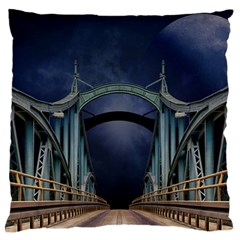 Bridge Mars Space Planet Large Flano Cushion Case (two Sides) by Sapixe