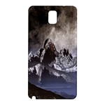 Mountains Moon Earth Space Samsung Galaxy Note 3 N9005 Hardshell Back Case Front