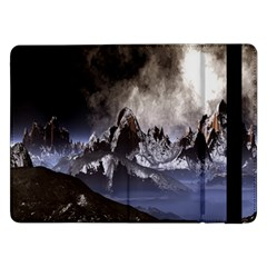 Mountains Moon Earth Space Samsung Galaxy Tab Pro 12 2  Flip Case