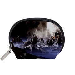 Mountains Moon Earth Space Accessory Pouches (small)