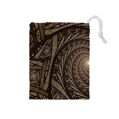 Abstract Pattern Graphics Drawstring Pouches (medium)  by Sapixe