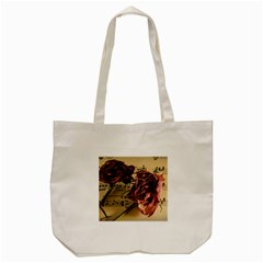 Sheet Music Manuscript Old Time Tote Bag (cream) by Sapixe