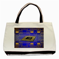 Processor Cpu Board Circuits Basic Tote Bag (two Sides) by Sapixe