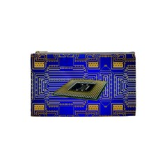 Processor Cpu Board Circuits Cosmetic Bag (small)  by Sapixe
