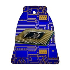 Processor Cpu Board Circuits Ornament (bell) by Sapixe