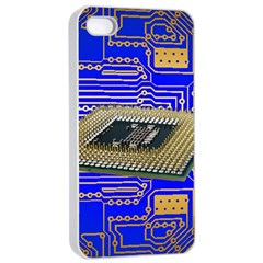 Processor Cpu Board Circuits Apple Iphone 4/4s Seamless Case (white)