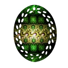 Fractal Art Digital Art Oval Filigree Ornament (two Sides) by Sapixe
