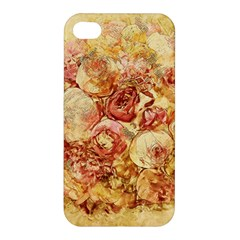 Vintage Digital Graphics Flower Apple Iphone 4/4s Hardshell Case