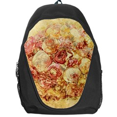 Vintage Digital Graphics Flower Backpack Bag