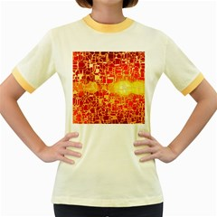 Board Conductors Circuits Women s Fitted Ringer T-shirts