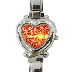 Board Conductors Circuits Heart Italian Charm Watch by Sapixe