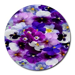 Graphic Background Pansy Easter Round Mousepads by Sapixe