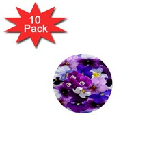 Graphic Background Pansy Easter 1  Mini Magnet (10 Pack)  by Sapixe