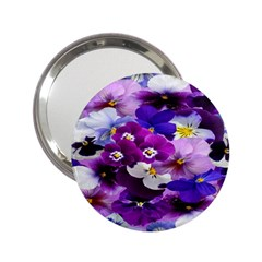 Graphic Background Pansy Easter 2 25  Handbag Mirrors by Sapixe