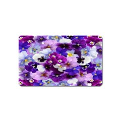 Graphic Background Pansy Easter Magnet (name Card)