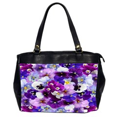 Graphic Background Pansy Easter Office Handbags (2 Sides)  by Sapixe