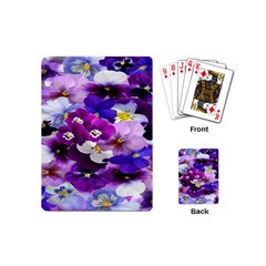 Graphic Background Pansy Easter Playing Cards (mini)  by Sapixe