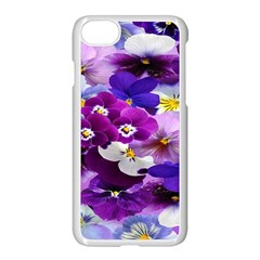 Graphic Background Pansy Easter Apple Iphone 7 Seamless Case (white) by Sapixe