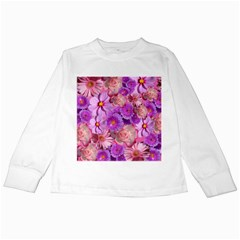 Flowers Blossom Bloom Nature Color Kids Long Sleeve T Shirts by Sapixe