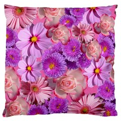 Flowers Blossom Bloom Nature Color Large Cushion Case (two Sides) by Sapixe