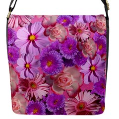 Flowers Blossom Bloom Nature Color Flap Messenger Bag (s)