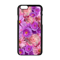 Flowers Blossom Bloom Nature Color Apple Iphone 6/6s Black Enamel Case by Sapixe