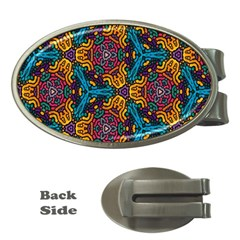 Grubby Colors Kaleidoscope Pattern Money Clips (oval)  by Sapixe
