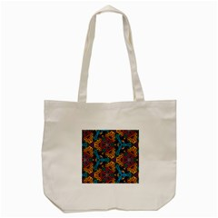 Grubby Colors Kaleidoscope Pattern Tote Bag (cream) by Sapixe