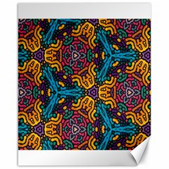 Grubby Colors Kaleidoscope Pattern Canvas 16  X 20   by Sapixe