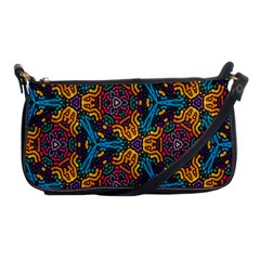 Grubby Colors Kaleidoscope Pattern Shoulder Clutch Bags by Sapixe