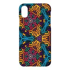 Grubby Colors Kaleidoscope Pattern Apple Iphone X Hardshell Case