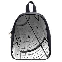 Graphic Design Background School Bag (small)