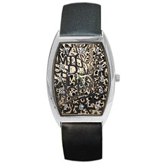 Pattern Design Texture Wallpaper Barrel Style Metal Watch
