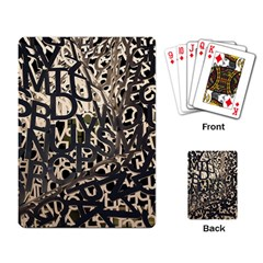 Pattern Design Texture Wallpaper Playing Card by Sapixe
