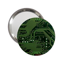 Board Computer Chip Data Processing 2 25  Handbag Mirrors by Sapixe