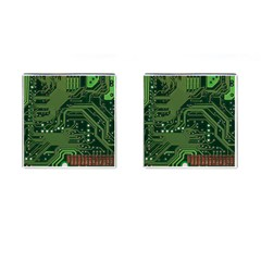 Board Computer Chip Data Processing Cufflinks (square) by Sapixe