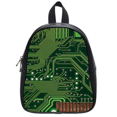Board Computer Chip Data Processing School Bag (small) by Sapixe
