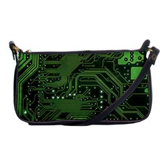 Board Computer Chip Data Processing Shoulder Clutch Bags