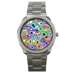 Board Interfaces Digital Global Sport Metal Watch by Sapixe