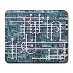 Board Circuit Control Center Large Mousepads by Sapixe