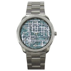 Board Circuit Control Center Sport Metal Watch by Sapixe