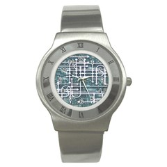 Board Circuit Control Center Stainless Steel Watch by Sapixe