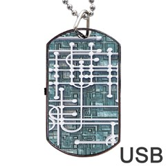 Board Circuit Control Center Dog Tag Usb Flash (two Sides) by Sapixe