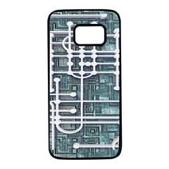 Board Circuit Control Center Samsung Galaxy S7 Black Seamless Case