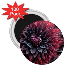 Flower Fractals Pattern Design Creative 2 25  Magnets (100 Pack)  by Sapixe