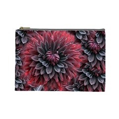 Flower Fractals Pattern Design Creative Cosmetic Bag (large)  by Sapixe