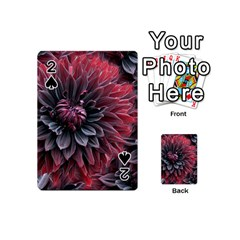Flower Fractals Pattern Design Creative Playing Cards 54 (mini)  by Sapixe