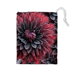 Flower Fractals Pattern Design Creative Drawstring Pouches (large)