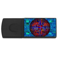 Board Interfaces Digital Global Rectangular Usb Flash Drive by Sapixe